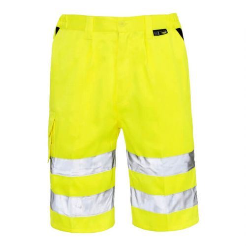 Supertouch Yellow Hi Vis Shorts